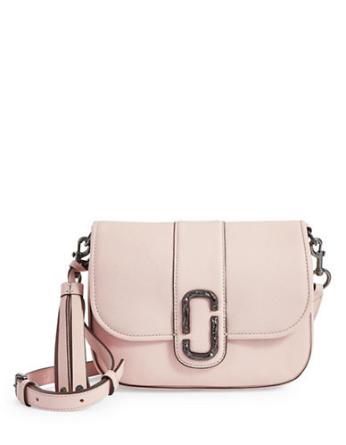 Marc Jacobs Interlock Leather Courier Bag-PALE PINK-One Size