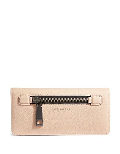 Marc Jacobs Gotham Open Face Leather Wallet-PALE PINK-One Size