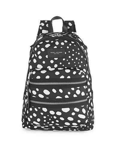 Marc Jacobs Wavy Spot Biker Backpack-BLACK-One Size