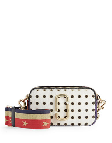 Marc Jacobs Studded Camera Bag With Guitar Strap-WHITE MULTI-One Size