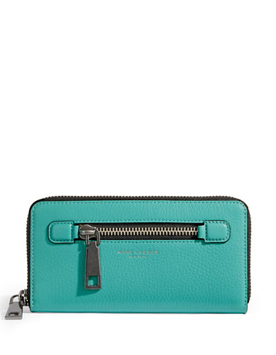 Marc Jacobs Standard Continental Leather Wallet-CARRIBEAN BLUE-One Size