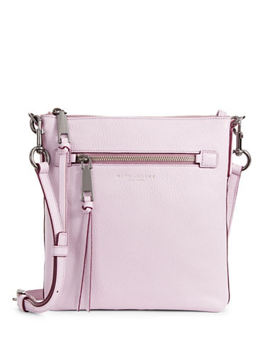 Marc Jacobs Recruit NS Leather Crossbody Bag-PALE LILAC-One Size