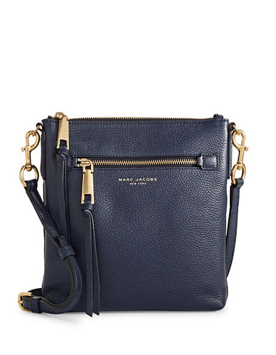 Marc Jacobs Recruit NS Leather Crossbody Bag-BLUE-One Size