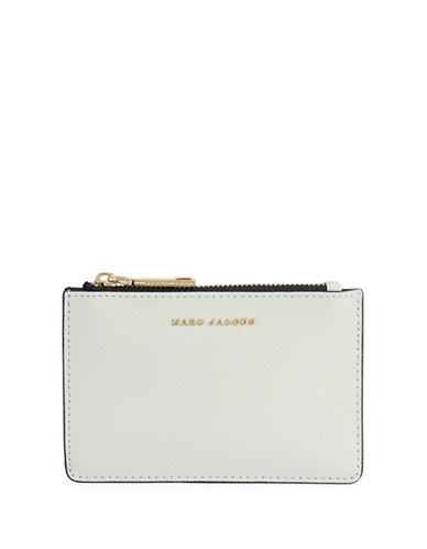 Marc Jacobs Saffiano Colourblock Zip Card Wallet-DOVE-One Size