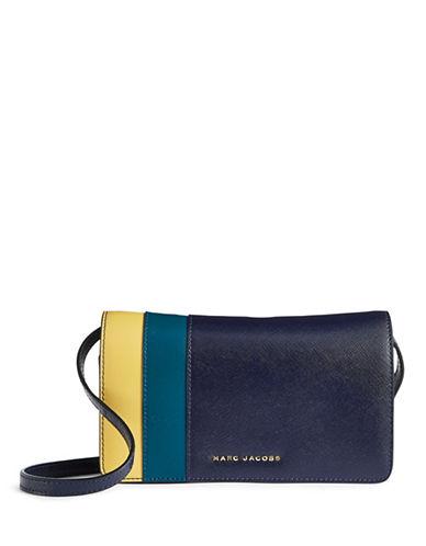 Marc Jacobs Saffiano Colourblock Crossbody Wallet-MIDNIGHT BLUE-One Size