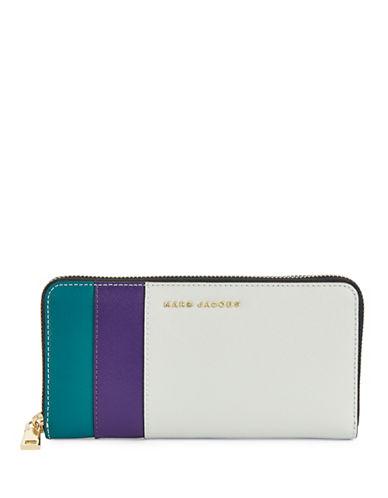 Marc Jacobs Saffiano Colourblock Continental Wallet-DOVE-One Size