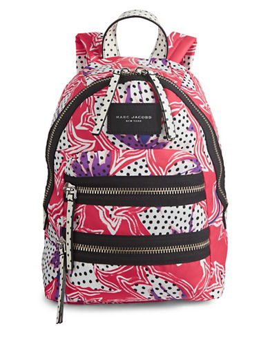 Marc Jacobs Spotted Lily Biker Backpack-RED-One Size