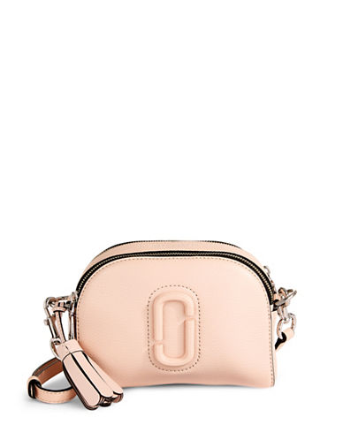 Marc Jacobs Leather Shutter Crossbody Bag-PALE PINK-One Size