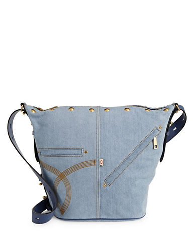 Marc Jacobs The Sling Denim Convertible Bag-BLUE-One Size