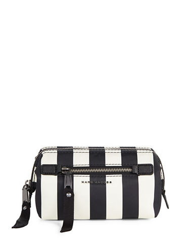 Marc Jacobs Trooper Striped Framed Top-Zip Bag-BLACK MULTI-One Size