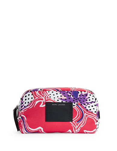 Marc Jacobs Spotted Lily Large Cosmetic Case-RED-One Size