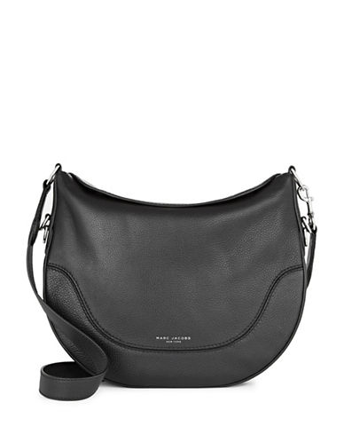 Marc Jacobs The Anchor Leather Shoulder Bag-BLACK-One Size