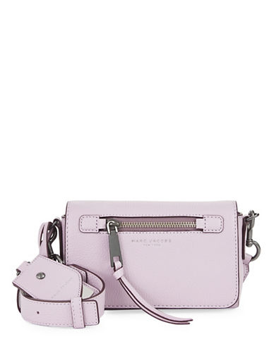 Marc Jacobs Recruit Leather Crossbody Bag-PALE LILAC-One Size