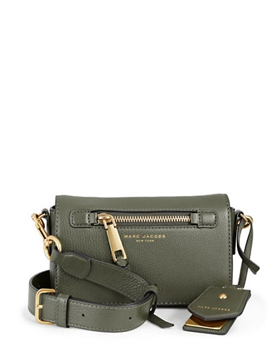 Marc Jacobs Recruit Leather Crossbody Bag-GREEN-One Size