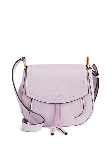Marc Jacobs Maverick Mini Leather Shoulder Saddle Bag-PURPLE-One Size