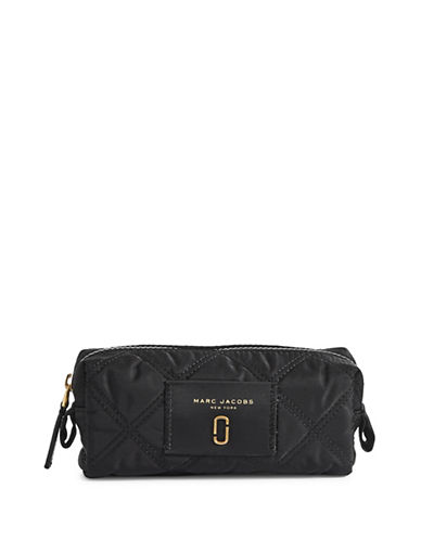 Marc Jacobs Nylon Knot Narrow Cosmetic Case-BLACK-One Size
