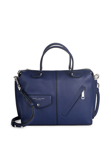 Marc Jacobs The Edge Leather Bag-BLUE-One Size