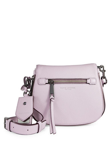 Marc Jacobs Recruit Small Leather Saddle Bag-PALE LILAC-One Size