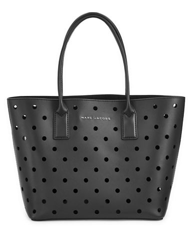 Marc Jacobs Perforated Tote Bag-BLACK-One Size