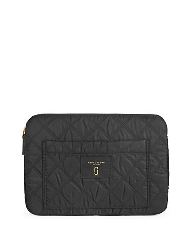 Marc Jacobs Quilted Computer Case-BLACK-One Size