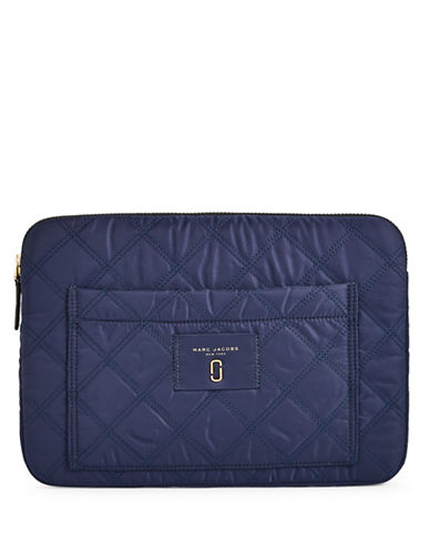 Marc Jacobs Quilted Computer Case-BLUE-One Size