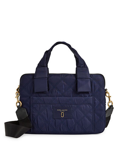 Marc Jacobs Quilted Commuter Case-BLUE-One Size