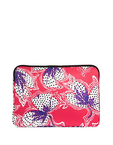 Marc Jacobs Spotted Lily Computer Case-RED-One Size