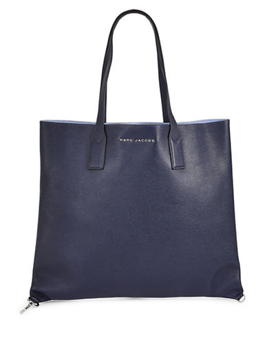 Marc Jacobs Wingman Leather Tote-BLUE-One Size