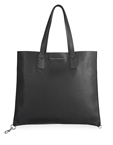 Marc Jacobs Wingman Leather Tote-BLACK-One Size 89168756_BLACK_One Size
