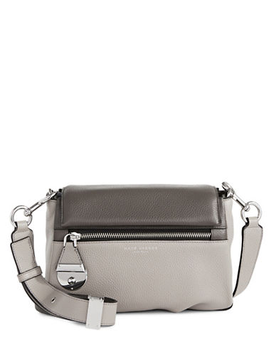 Marc Jacobs The Standard Leather Shoulder Bag-GREY-One Size