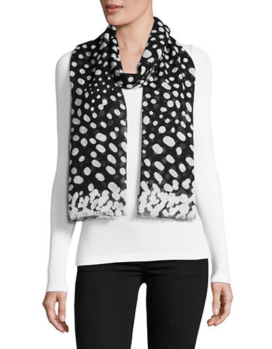 Marc Jacobs Wavy Spot Scarf-BLACK/WHITE-One Size