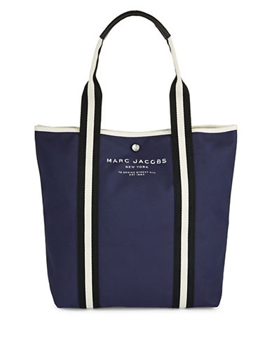 Marc Jacobs Coated Canvas North-South Tote-BLUE-One Size