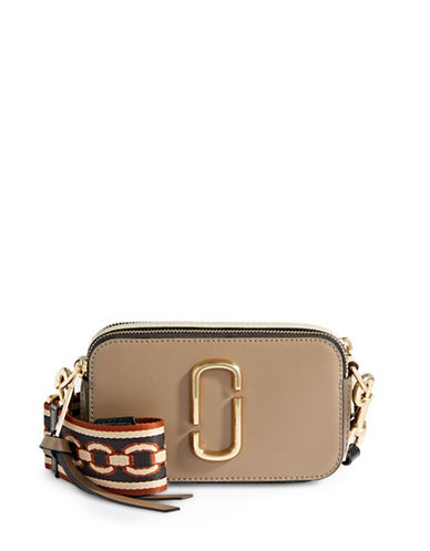 Marc Jacobs Camera Bag With Guitar Strap-BEIGE MULTI-One Size