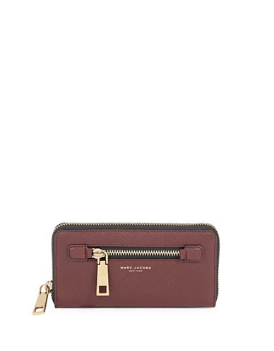 Marc Jacobs Standard Continental Leather Wallet-RED-One Size