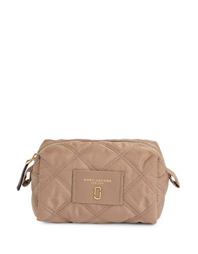Marc Jacobs Large Cosmetic Bag-BEIGE-One Size