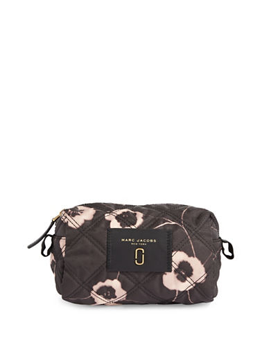 Marc Jacobs Floral Large Cosmetic Bag-BROWN-One Size