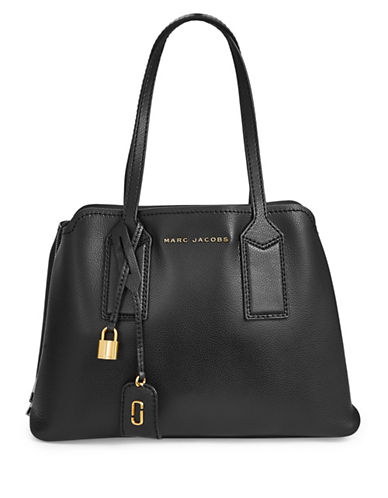 Marc Jacobs Editor Leather Satchel-BLACK-One Size