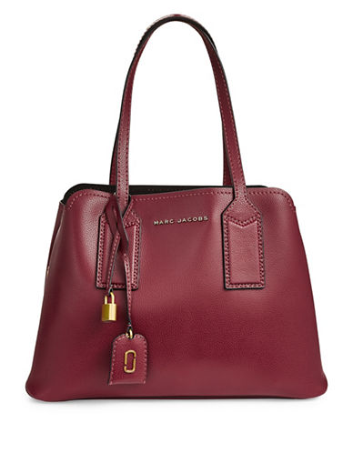 Marc Jacobs Editor Leather Tote-RED-One Size