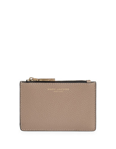 Marc Jacobs Textured Leather Wallet-GREY-One Size