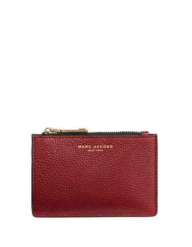 Marc Jacobs Textured Leather Wallet-RED-One Size