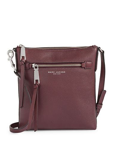 Marc Jacobs Recruit NS Leather Crossbody Bag-BLACKBERRY-One Size