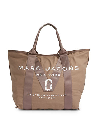 Marc Jacobs New Logo Tote Bag-BROWN-One Size