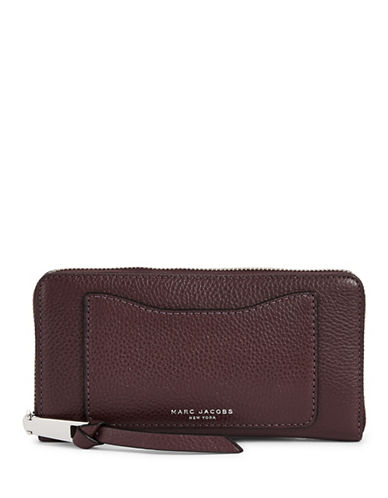 Marc Jacobs Leather Continental Wallet-PURPLE-One Size