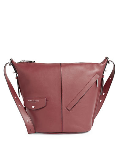 Marc Jacobs The Sling Convertible Leather Bag-RED-One Size