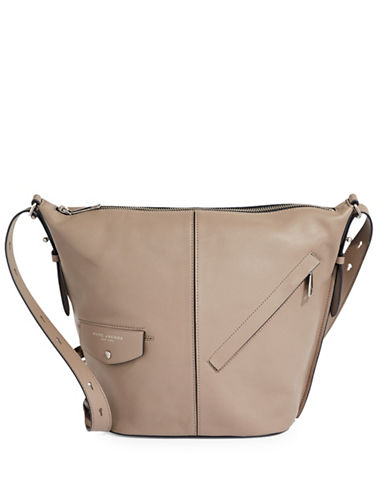 Marc Jacobs The Sling Convertible Leather Bag-GREY-One Size