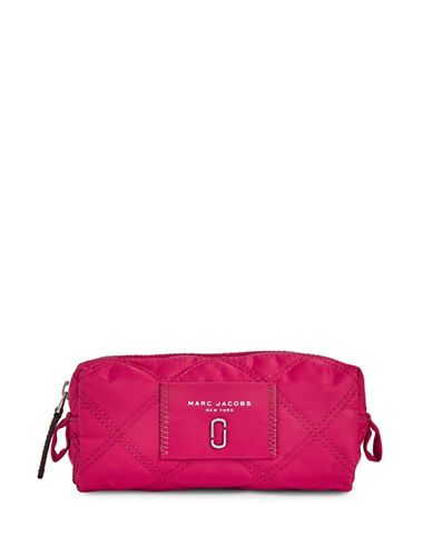 Marc Jacobs Nylon Knot Narrow Cosmetic Case-PINK-One Size