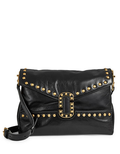Marc Jacobs Studs Leather Crossbody Bag-BLACK-One Size