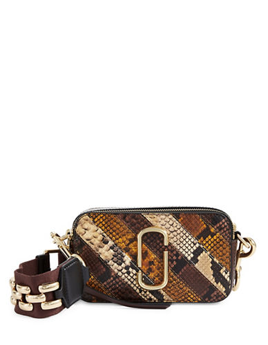 Marc Jacobs Snake Patchwork Leather Camera Bag-TAN MULTI-One Size