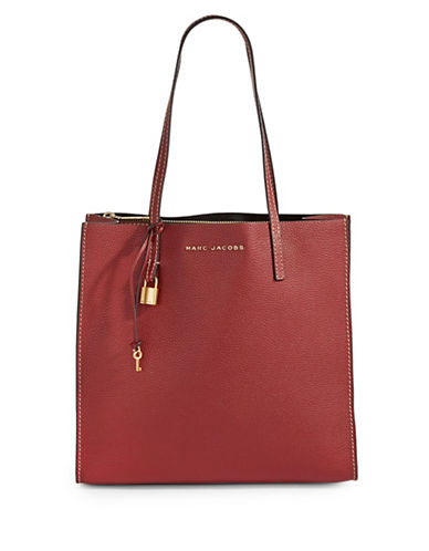 Marc Jacobs EW Leather Tote Bag-CABERNET-One Size