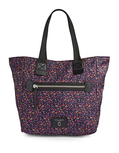 Marc Jacobs Printed Nylon NS Tote Bag-BLUE MULTI-One Size
